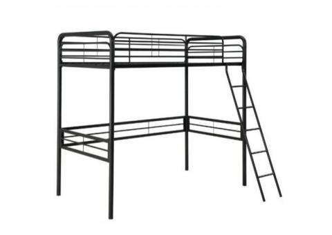 Twin size metal loft bed frame