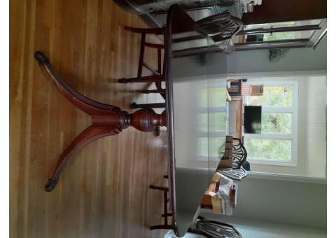 Vintage 10-piece Mahogany Dining Room Set